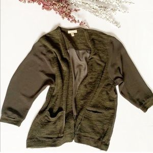 SALE! Anthro. Silence + Noise Green Shift Cardigan